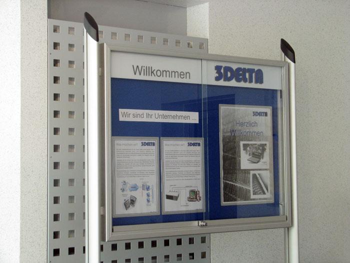 Schaukasten für den Innenbereich | Serie Delta | 55 mm Bautiefe