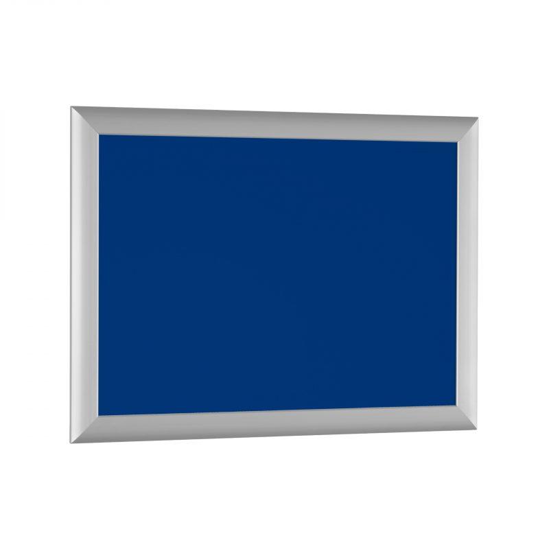 Aushangtafel Serie PUBLIC | blaue Rückwand